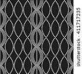 vector seamless chain pattern.... | Shutterstock .eps vector #411717235