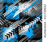 abstract seamless grunge... | Shutterstock .eps vector #411720022
