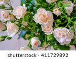 Stock photo bouquet of pale pink roses 411729892