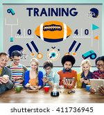 league sport fitness exercise... | Shutterstock . vector #411736945