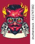 devil rider | Shutterstock .eps vector #411747382