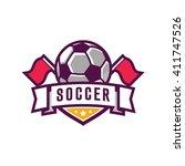 soccer logos  american logo... | Shutterstock .eps vector #411747526