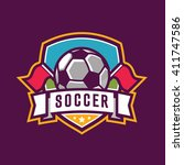 soccer logos  american logo... | Shutterstock .eps vector #411747586