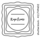 rope frame | Shutterstock .eps vector #411749602