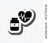fitness lifestyle design  | Shutterstock .eps vector #411753136