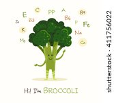 illustration with funny... | Shutterstock .eps vector #411756022