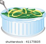 illustration of a green bean... | Shutterstock .eps vector #41175835
