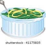 illustration of a green bean... | Shutterstock .eps vector #41175835