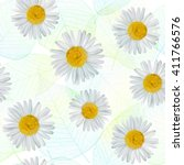 seamless pattern with daisy ... | Shutterstock .eps vector #411766576
