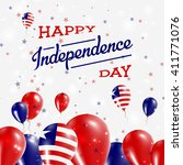 liberia independence day... | Shutterstock .eps vector #411771076