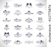 royal icons set isolated on... | Shutterstock .eps vector #411775876