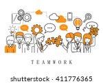 teamwork concept  business...   Shutterstock .eps vector #411776365