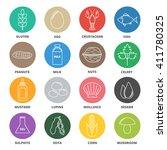 allergen icons vector set. food ... | Shutterstock .eps vector #411780325