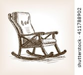 rocking chair sketch style... | Shutterstock .eps vector #411788902