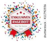 "german text ""exklusives angebot""... | Shutterstock .eps vector #411792556"