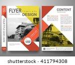 flyers design template vector.... | Shutterstock .eps vector #411794308