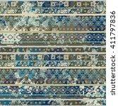 ethnic boho seamless pattern.... | Shutterstock .eps vector #411797836