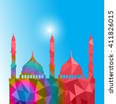 beautiful religious eid... | Shutterstock .eps vector #411826015