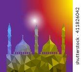 beautiful religious eid... | Shutterstock .eps vector #411826042