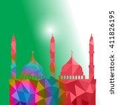beautiful religious eid... | Shutterstock .eps vector #411826195