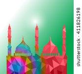 beautiful religious eid... | Shutterstock .eps vector #411826198