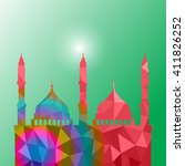 beautiful religious eid... | Shutterstock .eps vector #411826252