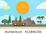 take vacation travelling...   Shutterstock .eps vector #411846106