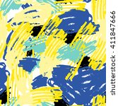 seamless pattern with marker... | Shutterstock .eps vector #411847666