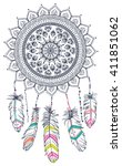 dream catcher  vector... | Shutterstock .eps vector #411851062