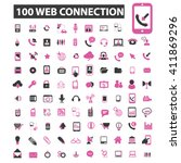 web connection icons  | Shutterstock .eps vector #411869296