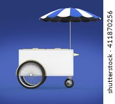 promotion counter on wheels...   Shutterstock . vector #411870256