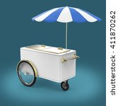promotion counter on wheels...   Shutterstock . vector #411870262