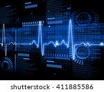 ecg electrocardiography ... | Shutterstock . vector #411885586