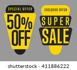 sale tag bitmap isolated. sale... | Shutterstock . vector #411886222