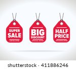 sale tag bitmap isolated. sale... | Shutterstock . vector #411886246