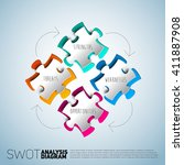 swot diagram illustration made... | Shutterstock .eps vector #411887908