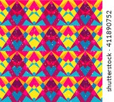 psychedelic geometric seamless... | Shutterstock .eps vector #411890752