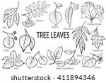 set of nature pictograms  tree... | Shutterstock . vector #411894346