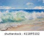 Beautiful  Blue  Tropical Sea...