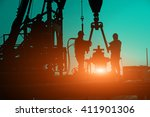 oil drilling exploration  the... | Shutterstock . vector #411901306