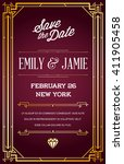 great quality style invitation...   Shutterstock .eps vector #411905458