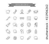 vector icons set of dental care.... | Shutterstock .eps vector #411906262