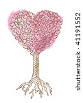 Tree of love / vector illustration /  cmyk color - stock vector