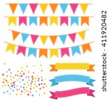 set of multicolored buntings... | Shutterstock . vector #411920482