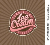 ice cream vector | Shutterstock .eps vector #411928612