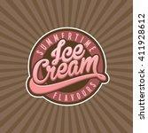 ice cream vector | Shutterstock .eps vector #411928612
