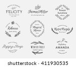 hand drawn logo collection.... | Shutterstock .eps vector #411930535