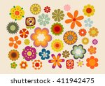 Stock vector vintage flowers s s part 411942475