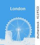 Illustration Of The London Eye.