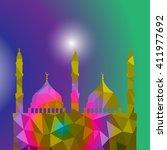 beautiful religious eid... | Shutterstock .eps vector #411977692